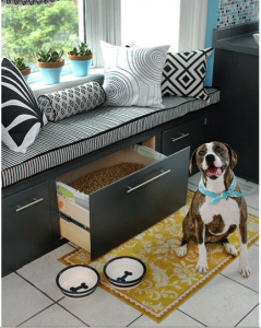 Pet Food Bin Inside Large Drawer | Diamond Pet Foods