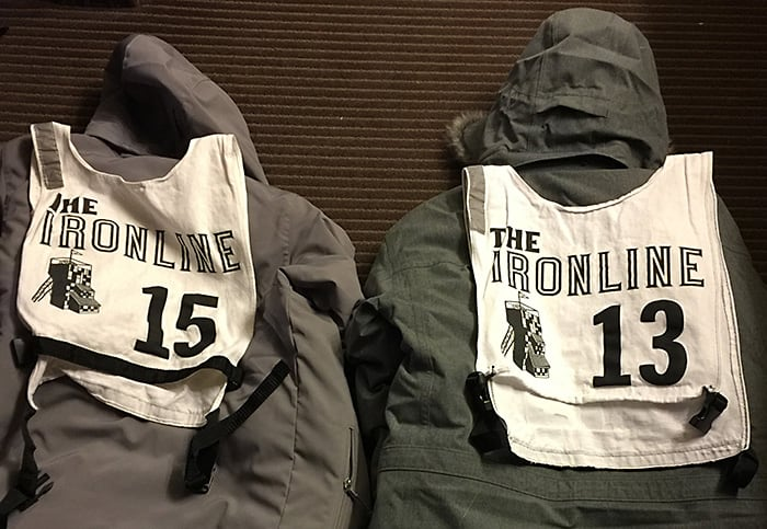 Two Winter Jackets with Race Bibs | Diamond Pet Foods