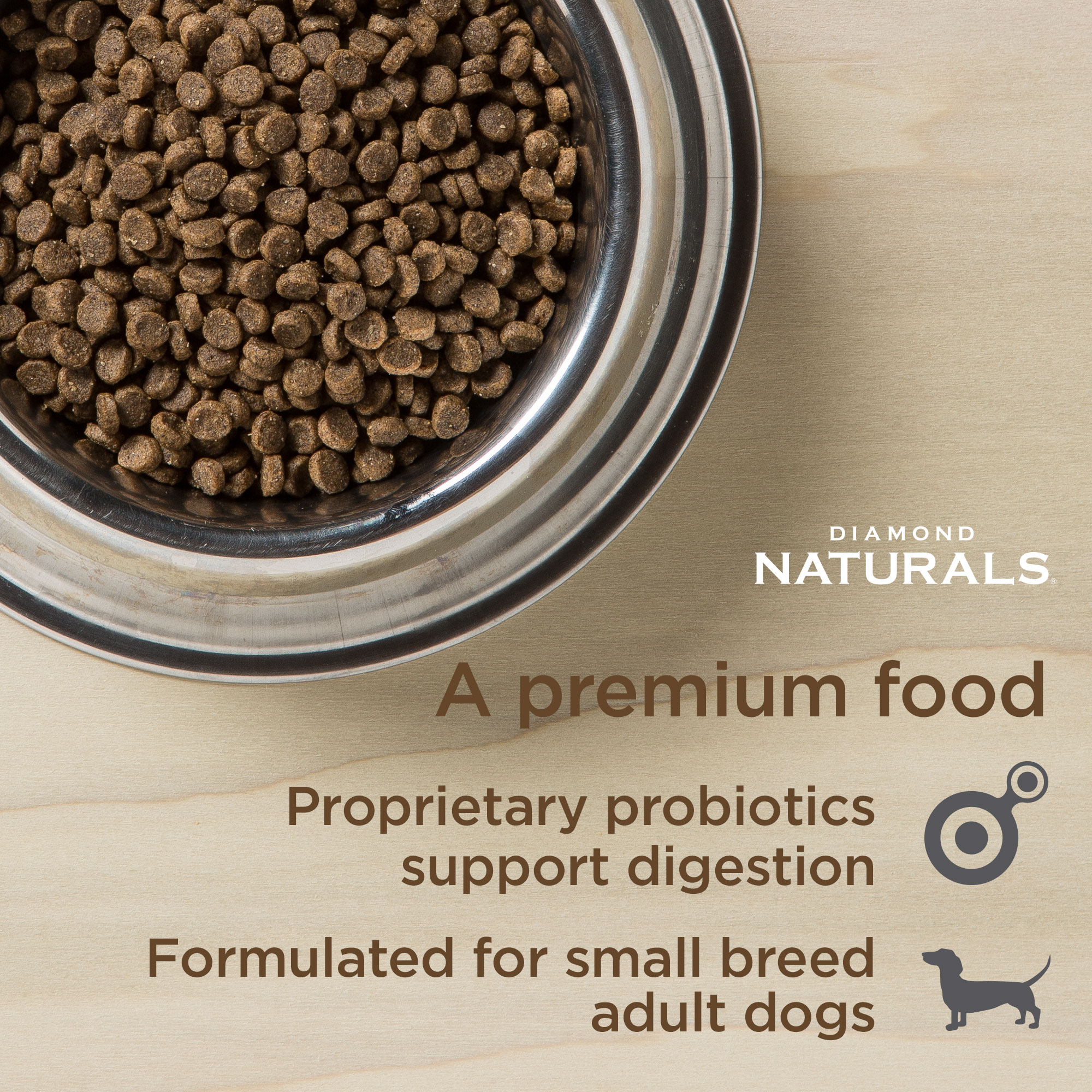 bowl of small breed lamb formula | Diamond Naturals