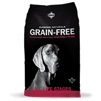 Diamond Naturals Grain-Free Pasture-Raised Beef & Sweet Potato bag thumbnail