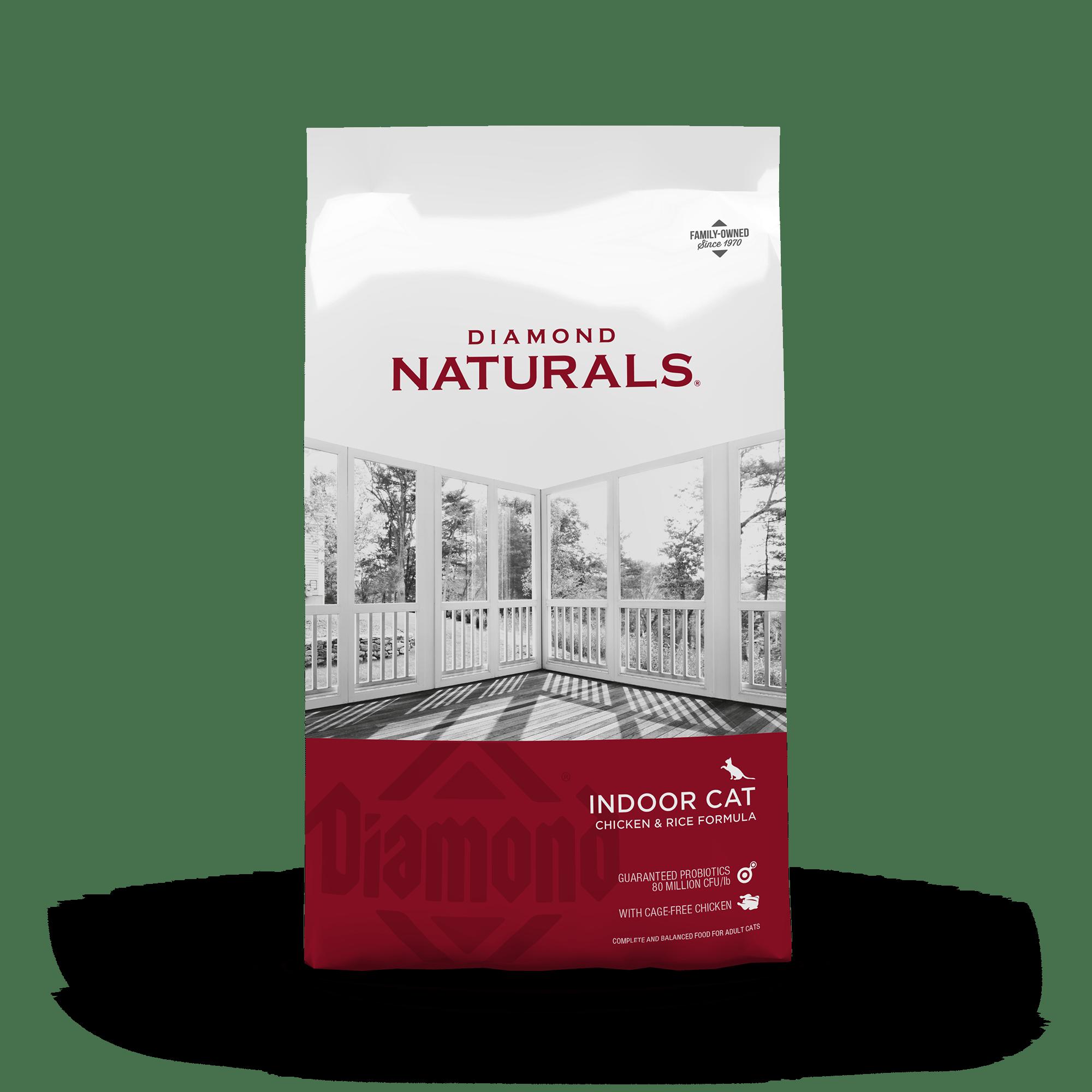 indoor cat front of bag | Diamond Naturals