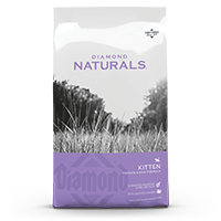 Diamond Naturals Kitten Chicken & Rice Formula front of bag | Diamond Pet Foods