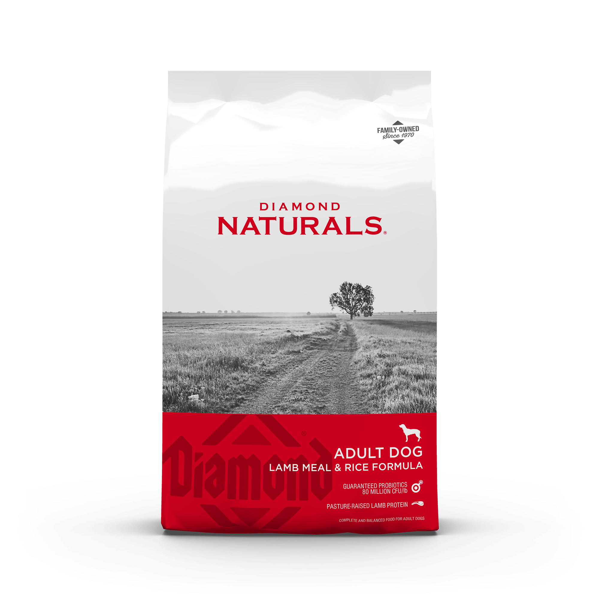lamb meal and rice front of bag | Diamond Naturals