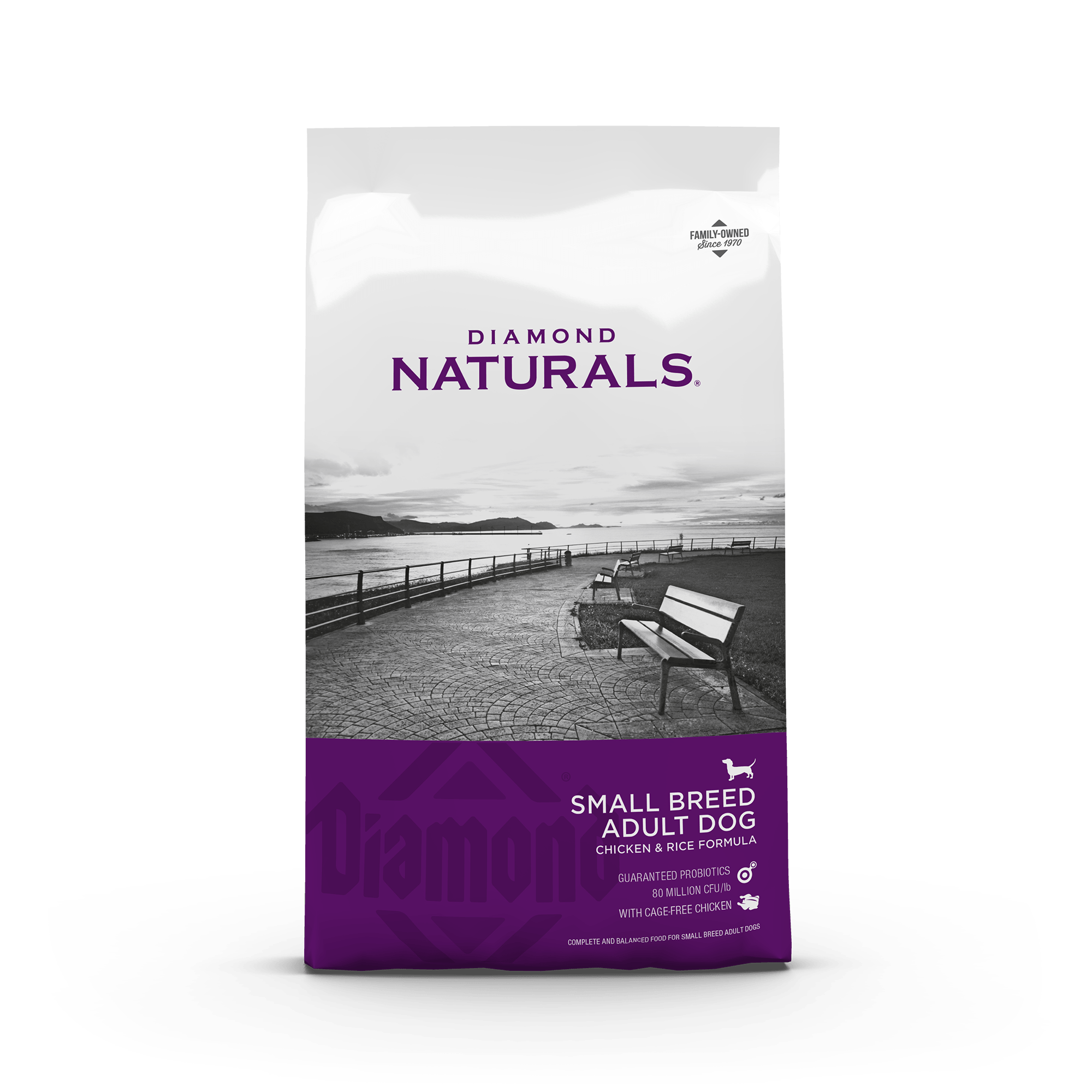 small breed chicken and rice front of bag | Diamond Naturals