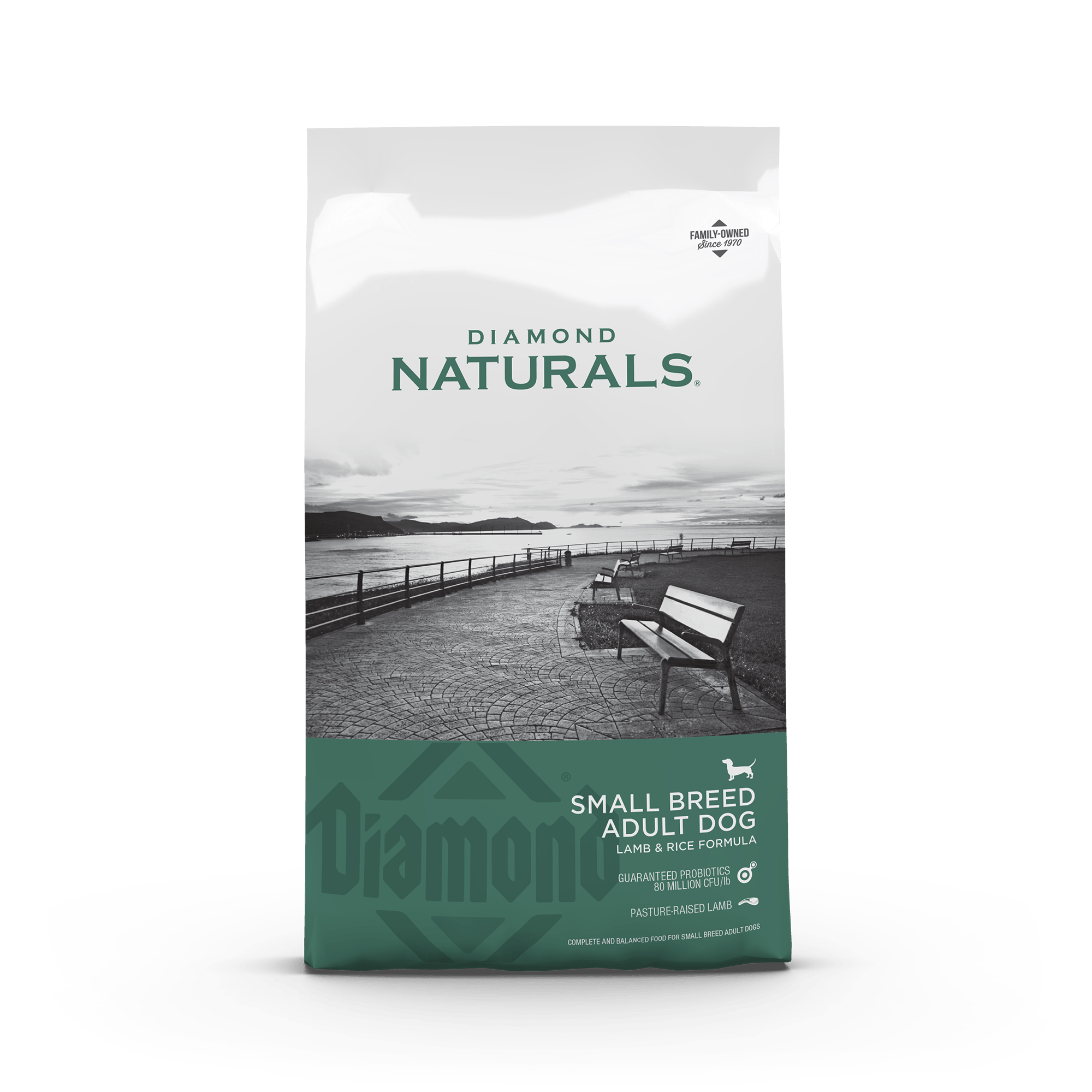 Diamond Naturals Small Breed Adult Dog Lamb & Rice front of bag | Diamond Pet Foods