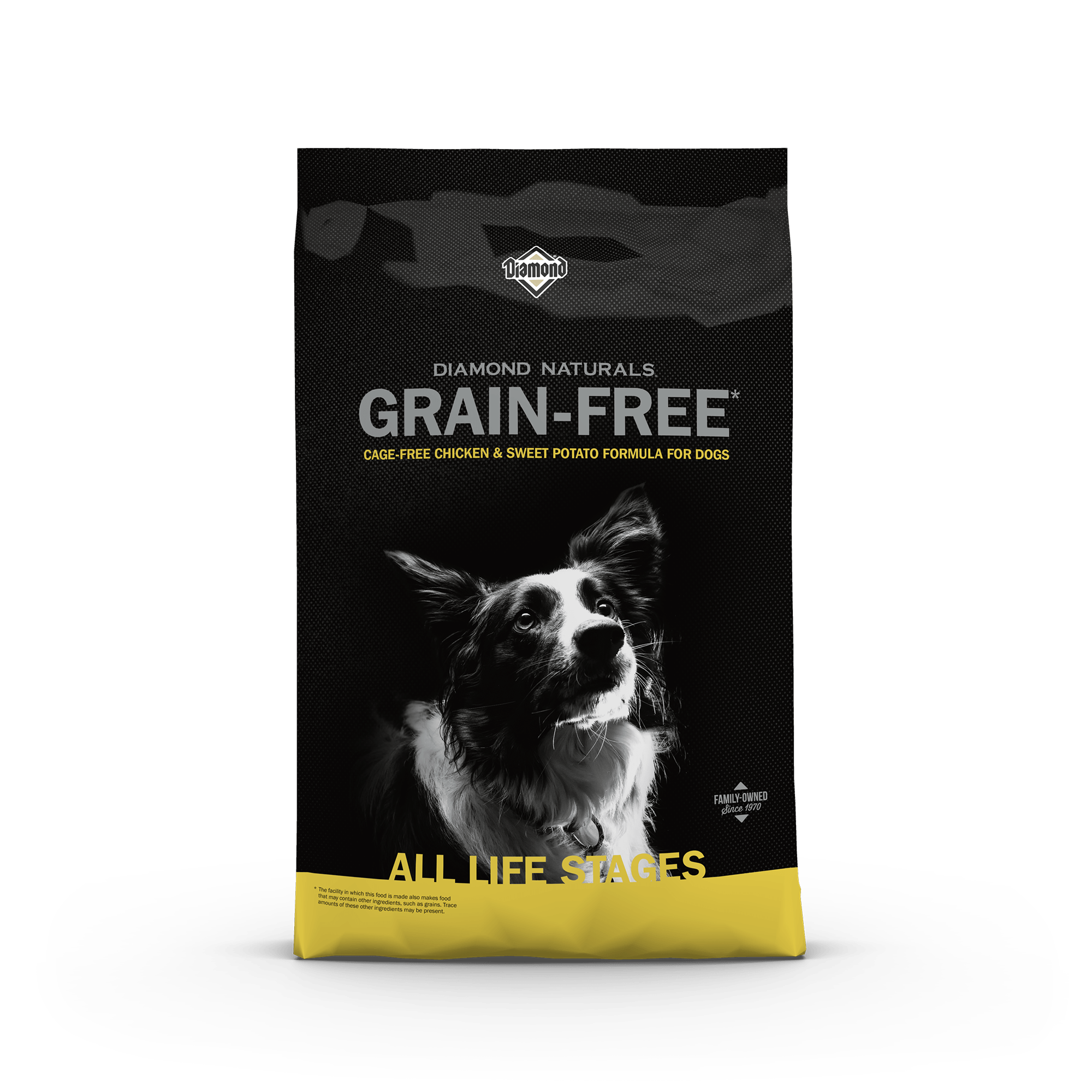 Diamond Naturals Grain-Free Cage-Free Chicken and Sweet Potato Formula for Dogs Bag Front | Diamond Pet Foods