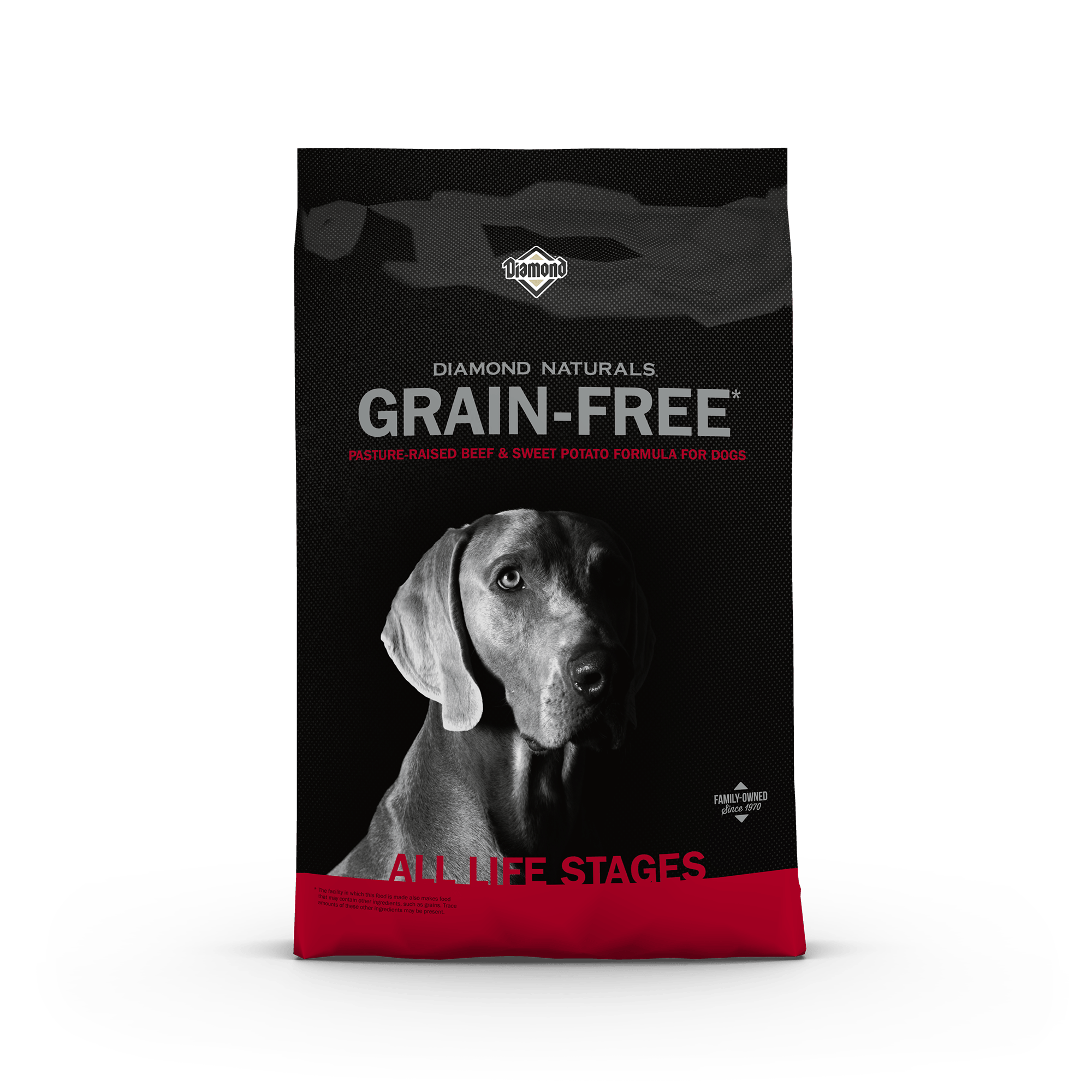 Pasture-Raised Beef & Sweet Potato Formula for Dogs product packaging