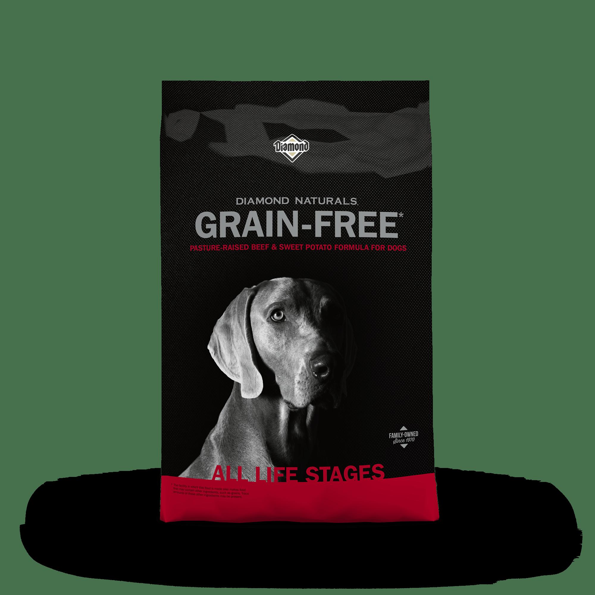Diamond Naturals Grain-Free Pasture-Raised Beef & Sweet Potato bag