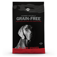 Diamond Naturals Grain-Free Pasture-Raised Beef and Sweet Potato Formula for Dogs Bag Front | Diamond Pet Foods