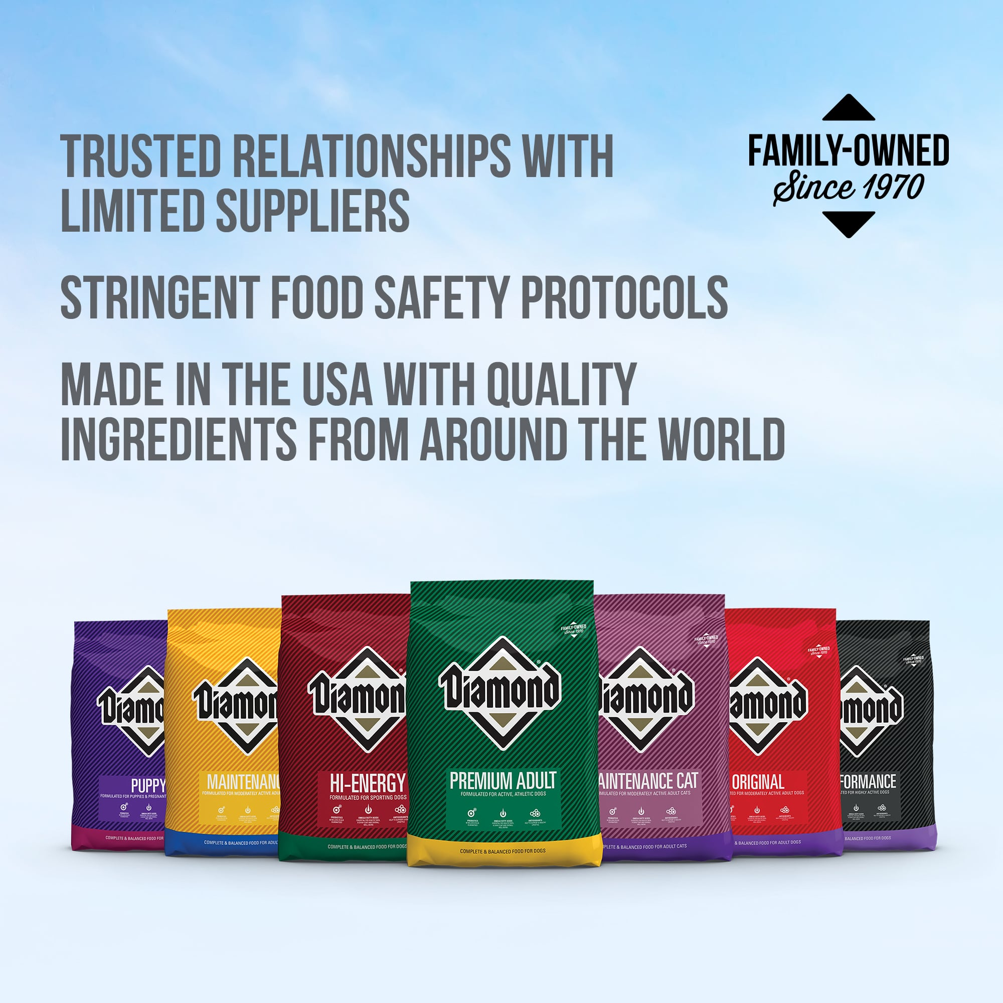 Diamond Food Family of Products for Dogs and Cats | Diamond Pet Foods