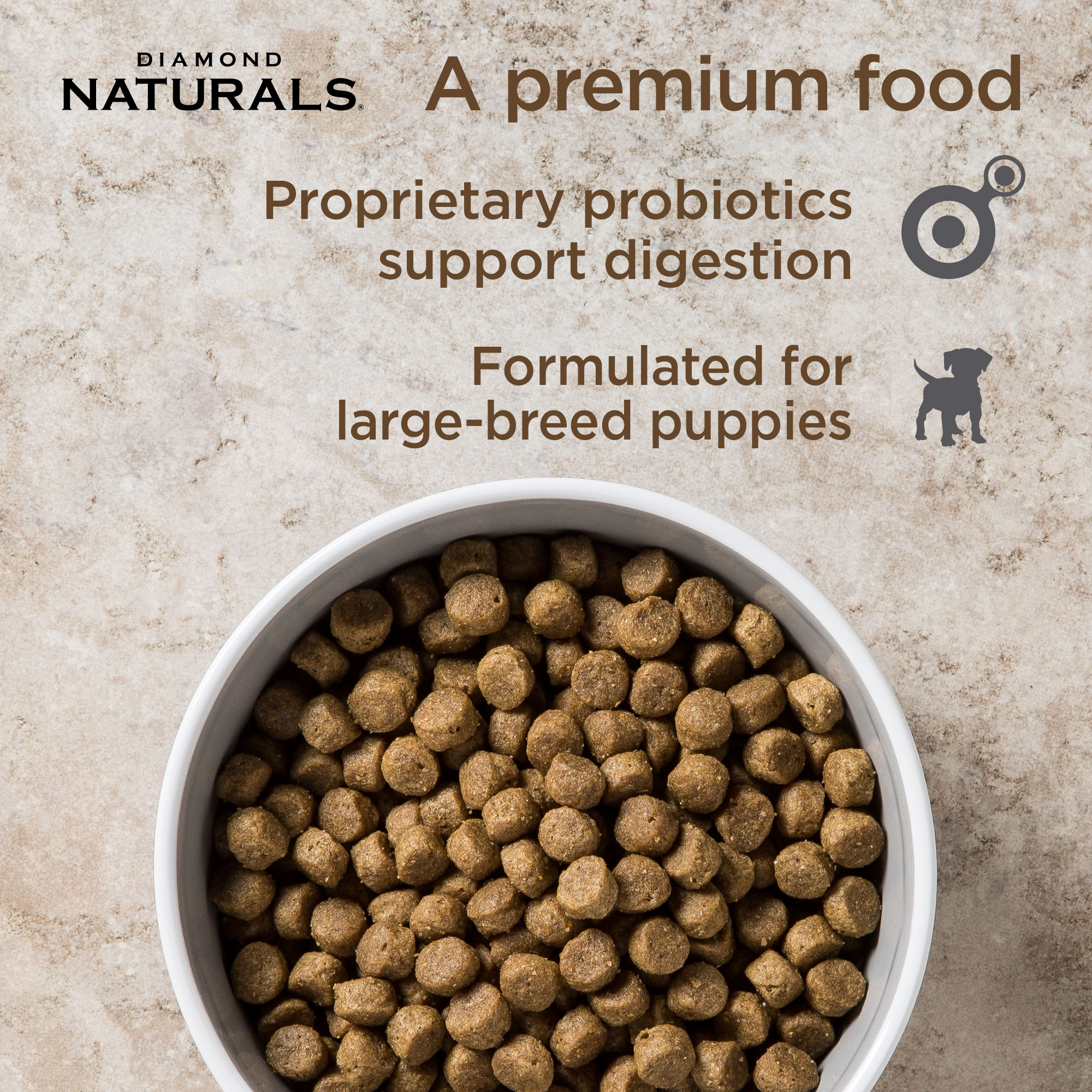 a bowl of large breed puppy | Diamond Naturals