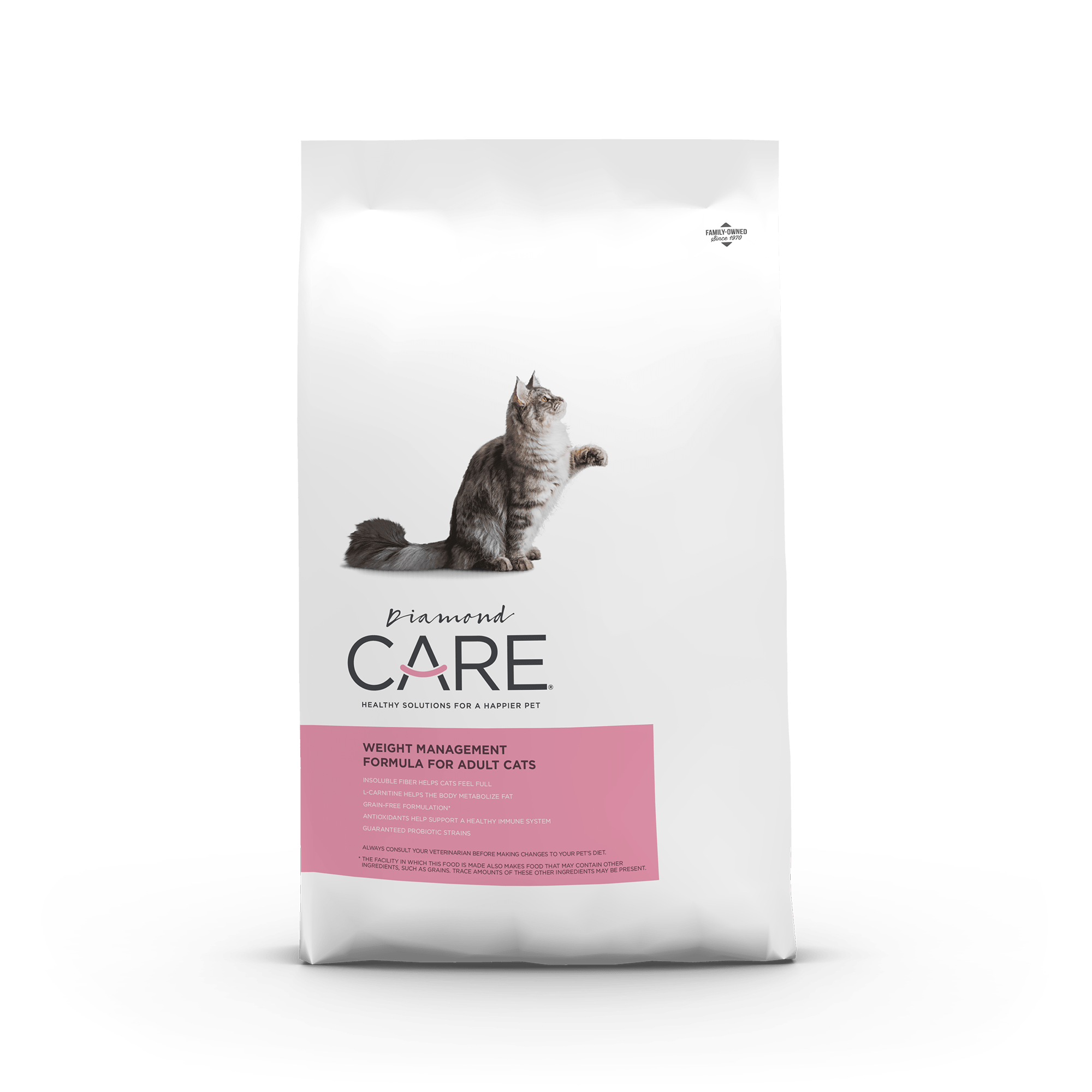 weight management cat front of bag | Diamond CARE