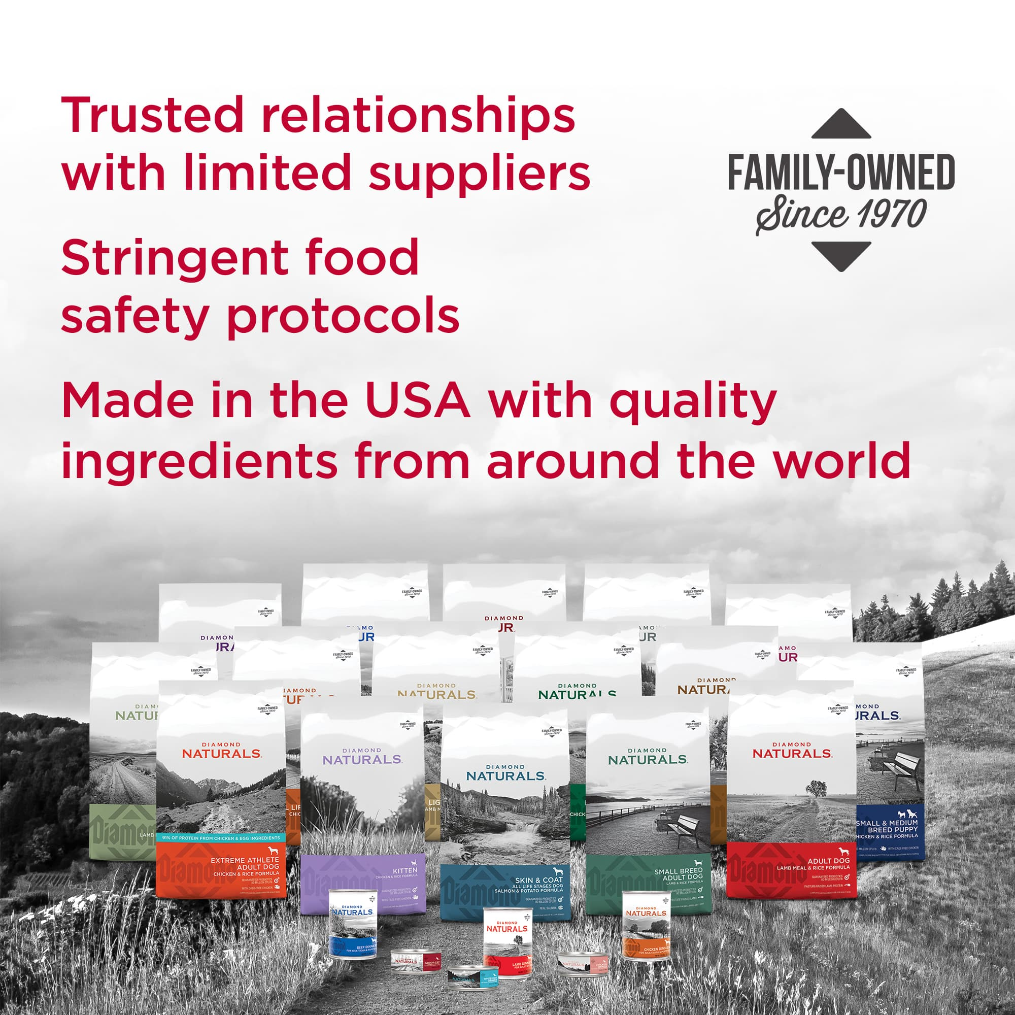 Diamond Naturals Family of Products for Dogs and Cats | Diamond Pet Foods