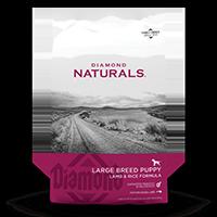 Diamond Naturals Large Breed Puppy Lamb & Rice bag front | Diamond Naturals