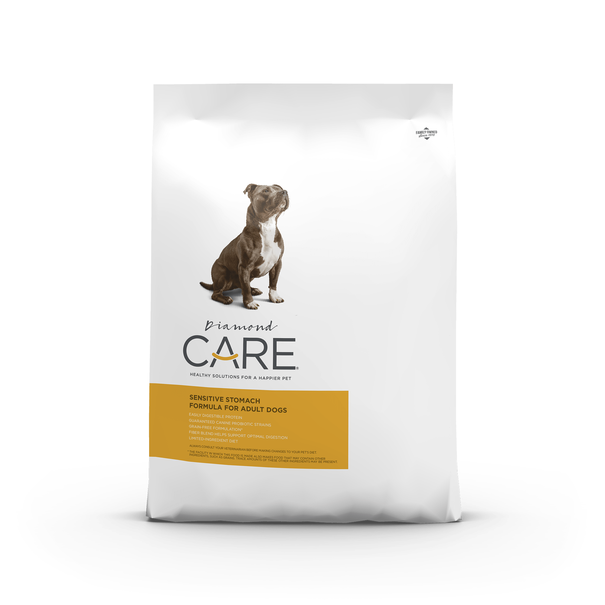 sensitive stomach front of bag | Diamond CARE