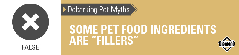 "False: Some Pet Food Ingredients Are ""Fillers"" 