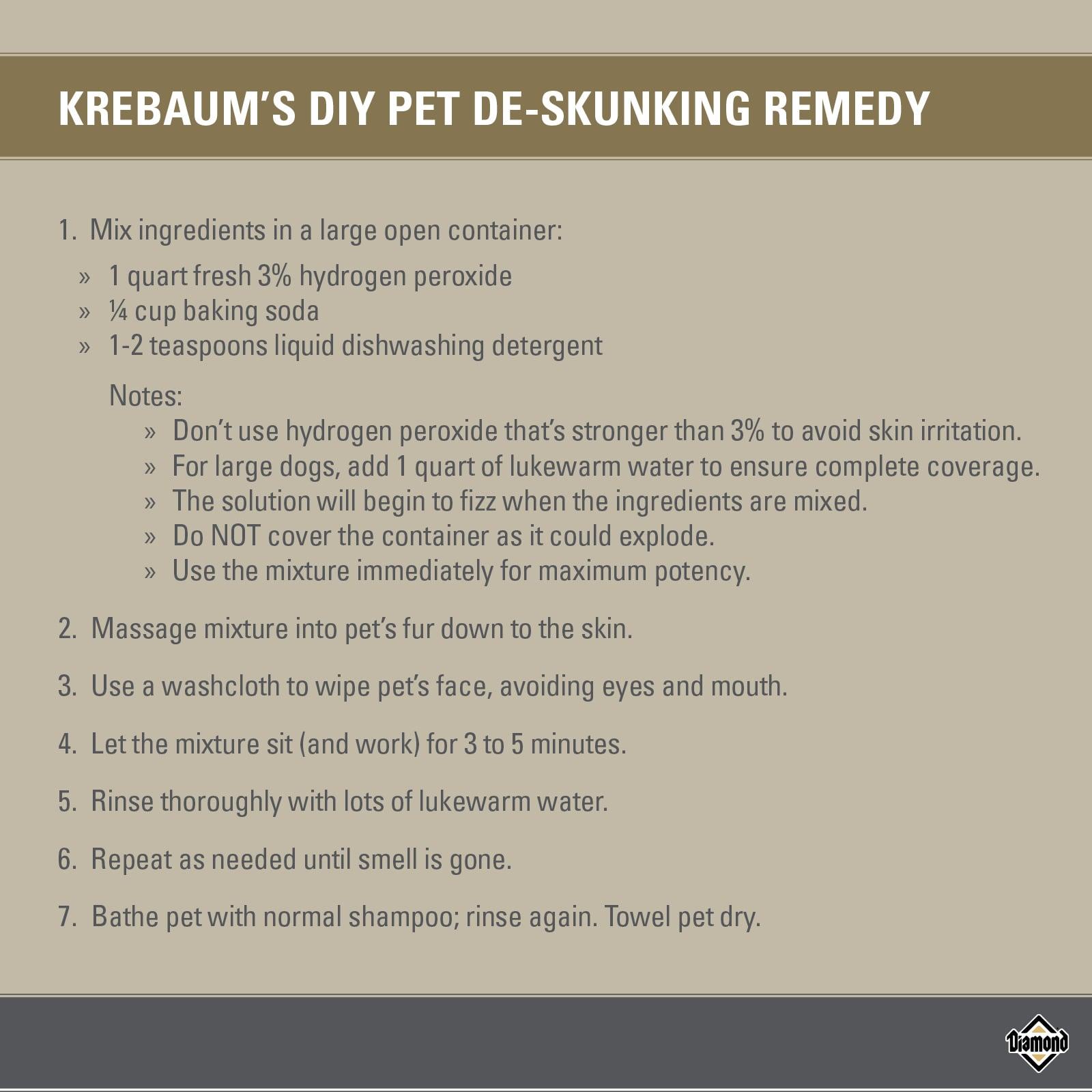 Krebaum's DIY Pet De-Skunking Remedy | Diamond Pet Foods