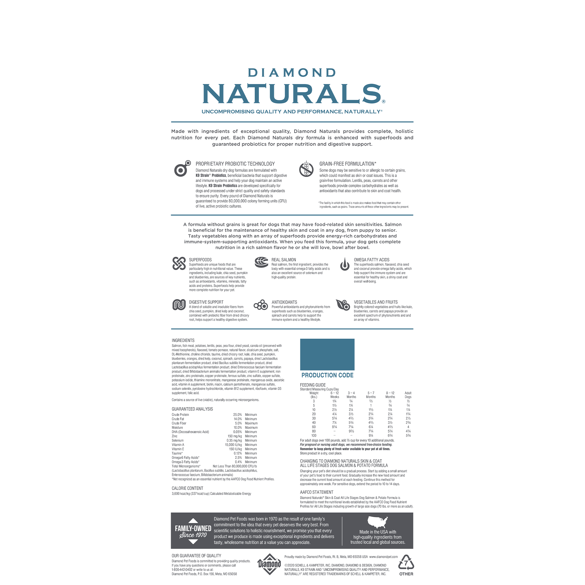Diamond Naturals Skin & Coat bag back