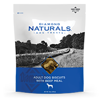 Adult Dog Biscuits with Beef Meal bag front | Diamond Naturals