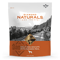 Adult Dog Biscuits With Chicken Meal bag front | Diamond Naturals