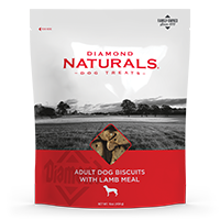 Adult Dog Biscuits with Lamb Meal bag front | Diamond Naturals