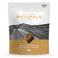 Adult Dog Biscuits with Peanut Butter bag front | Diamond Naturals
