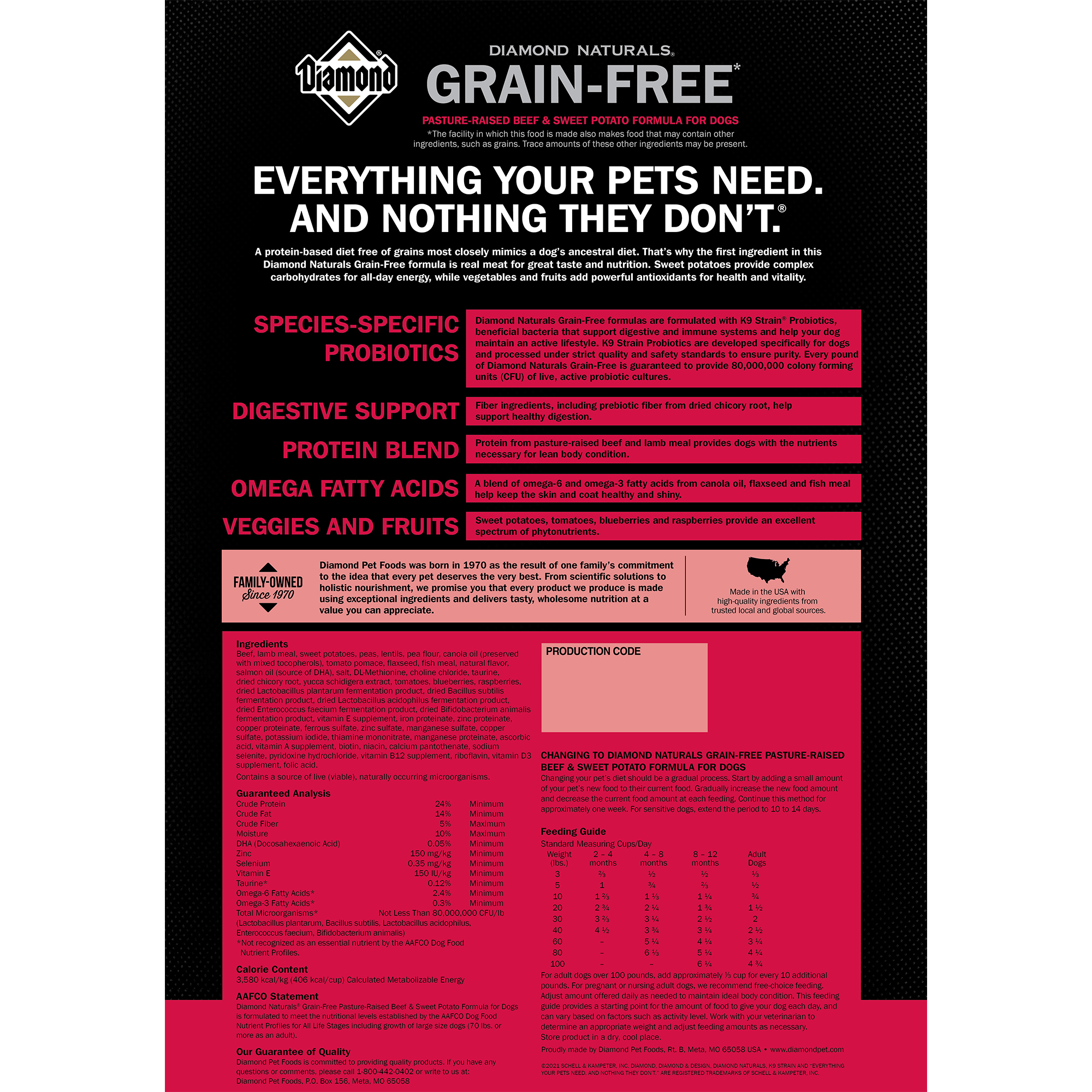 DIAMOND NATURALS GRAIN-FREE PASTURE-RAISED BEEF & SWEET POTATO   Diamond Pet Foods