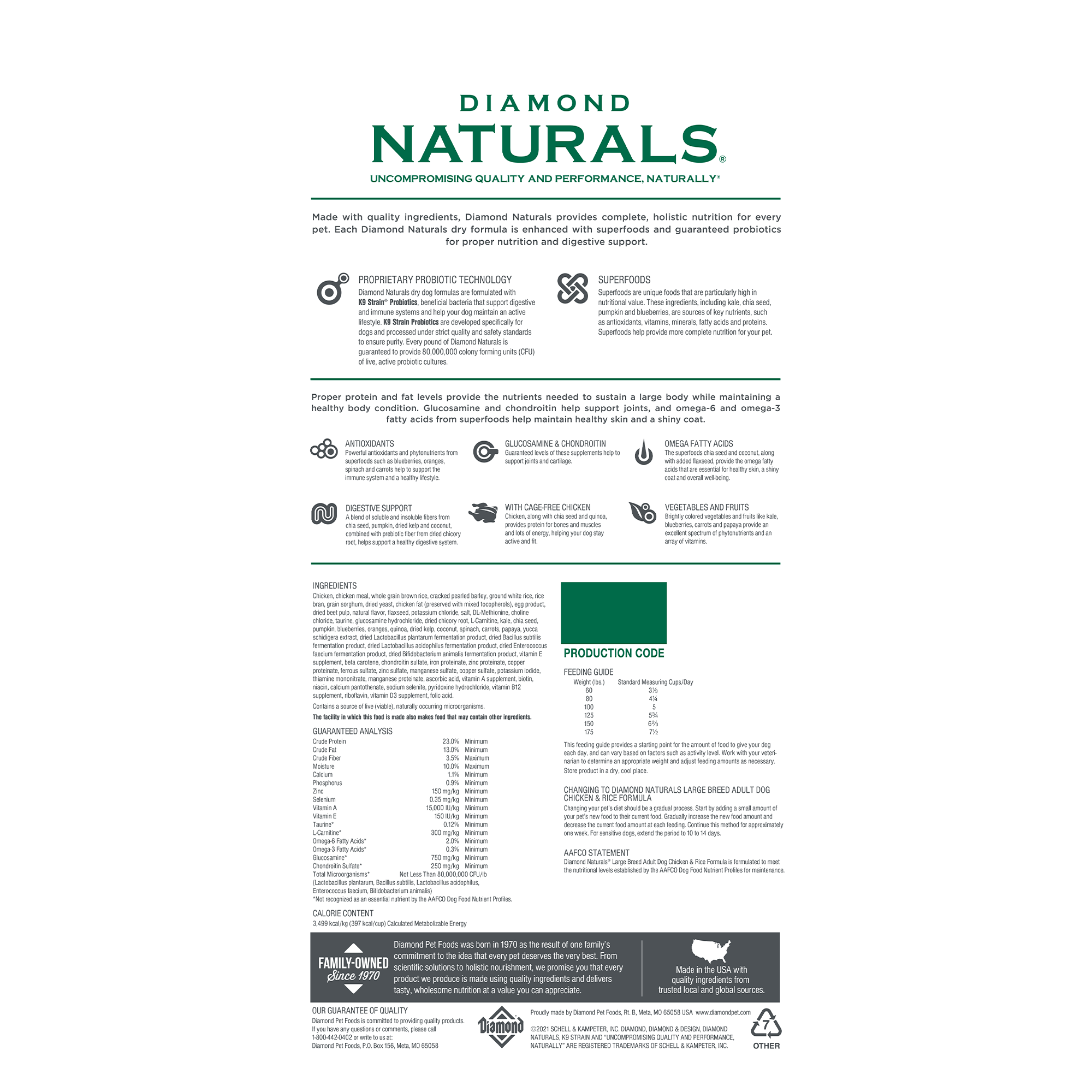 Diamond Naturals Large Breed Chicken and Rice   Diamond Pet Foods